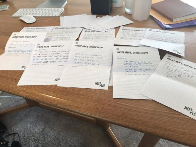 Hand-written thank you notes